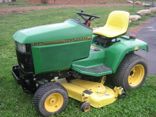 Tracteur tondeuse autoport e jhon deere 415 diesel - Plateau de coupe tracteur tondeuse john deere ...
